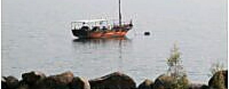 Boat near Tiberias shoreline